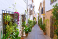 Javea xabia old town streets in alicante spain mediterranean Stock Photography