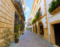 Javea xabia old town streets in alicante spain mediterranean Royalty Free Stock Image