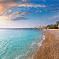 Javea xabia playa la grava beach in alicante spain mediterranean Stock Photo