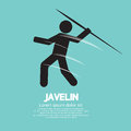 Javelin sign graphic vector illustration Royalty Free Stock Image