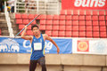 Javelin throw phatumtani thailand – september chanvittaya khunphon player action of in thailand open track and field Stock Image