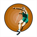 Javelin-throwing. Stock Photos