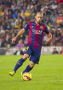 Javier mascherano of fcb in action at spanish league match between fc barcelona and celta de vigo final score on november in camp Royalty Free Stock Image