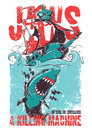 Jaws vector illustration ideal for printing on apparel clothes Stock Photos