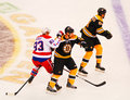 Jay Beagle and Greg Zanon collide. Stock Photography