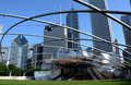 Jay pritzker pavilion chicago july the shown here on july was designed by national medal of art recipient frank gehry Royalty Free Stock Image