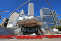 Jay Pritzker Pavilion in Millennium Park Stock Photos