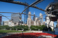 Jay pritzker pavilion in millennium park chicago july on july chicago outdoor amphitheater downtown chicago Stock Photos