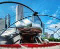 Jay pritzker pavilion in millennium park in chicago may on may illinois it serves as the centerpiece for Royalty Free Stock Image