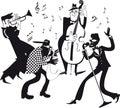 Jazz band clip-art