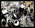 Jazz band on a grunge background