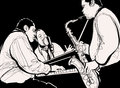 Jazz band vector illustration of a Royalty Free Stock Photos