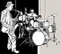 Jazz band vector illustration of a Royalty Free Stock Photo