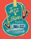 Jazz and Blues Hand Drawn Poster