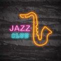 Jazz club neon logo
