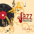 Jazz concert poster Royalty Free Stock Photo