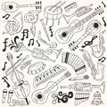 Jazz doodles this is file of eps format Royalty Free Stock Image