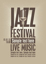Jazz festival poster for the with a retro microphone Royalty Free Stock Images
