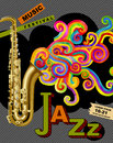 Jazz music festival poster Fotografia de Stock Royalty Free
