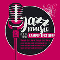 Jazz music with a microphone