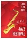 Jazz music poster Imagem de Stock