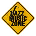 Jazz Music Zone Sign Royalty Free Stock Photo
