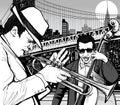 Jazz in New York Royalty Free Stock Photo