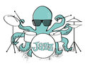 Jazz octopus retro style cool dude character available as vector illustrator Royalty Free Stock Image
