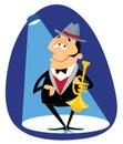 Jazz trumpeter Royalty Free Stock Photo
