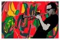 Jazz, Trumpeter Royalty Free Stock Photo