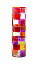 Jazzy colored glass Royalty Free Stock Photo