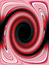 Jazzy retro red swirl background, abstract. Vintage psychedelic. Royalty Free Stock Photo
