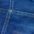 Jean fabric texture the image of blue Royalty Free Stock Images