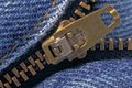 A jean`s zipper Royalty Free Stock Photo