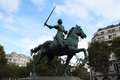 Jeanne d arc monument in paris Royalty Free Stock Photography