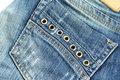 Jeans blue close up picture Royalty Free Stock Photos