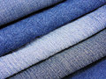 Jeans close up of different textures Stock Photo