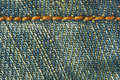 Jeans denim fabric seam texture Stock Images