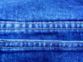 Jeans double stitch Royalty Free Stock Image