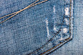 Jeans fabric texture worn blue Royalty Free Stock Photo