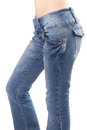 Jeans on Female buttocks Royalty Free Stock Photo