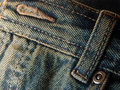 Jeans - front button and loop Stock Images