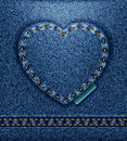 Jeans heart  Royalty Free Stock Photography