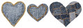 Jeans Heart Shape Patch Object...