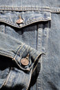 Jeans jacket detail Stock Image