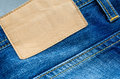 Jeans label Royalty Free Stock Photo