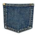 Jeans pocket. Royalty Free Stock Photo