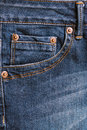 Jeans pocket. Royalty Free Stock Photo