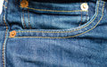 Jeans pocket close up shot of a Royalty Free Stock Photography