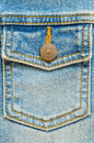 Jeans pocket with copper clasper Royalty Free Stock Image